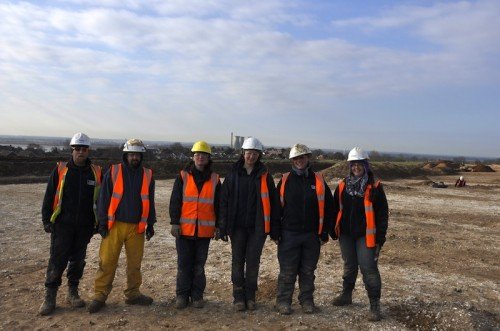 The archaeological team at Zone 14